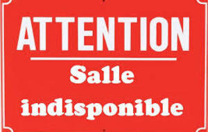 Salle indisponible